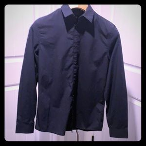Men's H&M Navy Blue long sleeve shirt